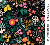 flower field bright colors on... | Shutterstock .eps vector #1759169780