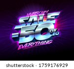sale banner hurry up  50  off...   Shutterstock .eps vector #1759176929