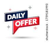 vector illustration daily offer ... | Shutterstock .eps vector #1759181993