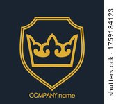 shield with crown elegant... | Shutterstock .eps vector #1759184123