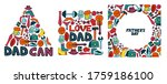 happy father's day. set of...   Shutterstock . vector #1759186100