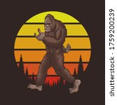 Bigfoot Rocker Retro Sunset...