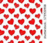 seamless hearts pattern. hand... | Shutterstock .eps vector #175920908