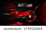abstract red futuristic gaming...