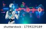 robot or humanoid cyborg... | Shutterstock .eps vector #1759229189