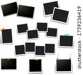 photo frame set with white... | Shutterstock .eps vector #1759236419