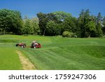 Mowing Grass On A Golf Course...