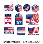set of made in usa logo and... | Shutterstock .eps vector #1759260320