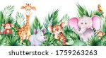 seamless horizontal border with ... | Shutterstock . vector #1759263263