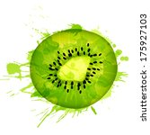 kiwi fruit slice made of... | Shutterstock .eps vector #175927103