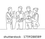 one continuous line drawing of...   Shutterstock .eps vector #1759288589