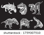 vector collection of dinosaurs... | Shutterstock .eps vector #1759307510