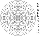 vector simple mandala with... | Shutterstock .eps vector #1759311953
