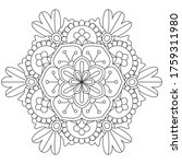 vector simple mandala with... | Shutterstock .eps vector #1759311980