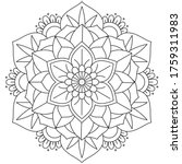 vector simple mandala with... | Shutterstock .eps vector #1759311983