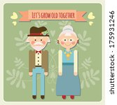 happy cute old couple   grandma ... | Shutterstock .eps vector #175931246
