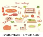 i love cocking a tasty pizza  a ...   Shutterstock .eps vector #1759316609