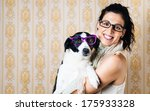 Funny Woman And Cute Dog...