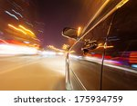 car on the road with motion... | Shutterstock . vector #175934759