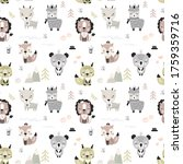 seamless pattern with various...   Shutterstock .eps vector #1759359716