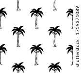 palm tree with skulls black... | Shutterstock . vector #1759371089