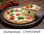 Hot Pizza  And Slice With...