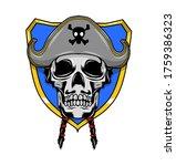 pirate of skull for esport logo ... | Shutterstock .eps vector #1759386323