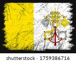 artistic grunge flag of vatican ...   Shutterstock .eps vector #1759386716