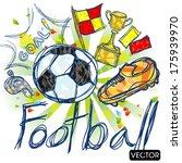 soccer football elements   Shutterstock .eps vector #175939970