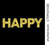 happy slogan t shirt print... | Shutterstock .eps vector #1759424180