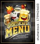 sports cafe menu cover design...   Shutterstock .eps vector #1759424603