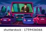 watch cinema on big screen... | Shutterstock .eps vector #1759436066