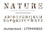 elegant font with floral... | Shutterstock .eps vector #1759440833