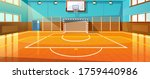 shining basketball court with... | Shutterstock .eps vector #1759440986