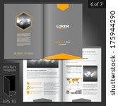 vector gray brochure template... | Shutterstock .eps vector #175944290