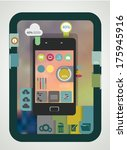 smartphone infographics with...