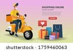 online shopping templates... | Shutterstock .eps vector #1759460063