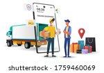 shopping online on mobile... | Shutterstock .eps vector #1759460069