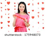 attractive young woman on... | Shutterstock . vector #175948073