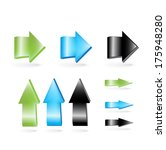 green  blue and black arrows... | Shutterstock .eps vector #175948280