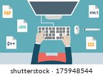 workplace of programmer and...   Shutterstock .eps vector #175948544