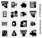 shopping vector icons set on... | Shutterstock .eps vector #175948934