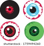 set of four cartoon zombie or... | Shutterstock .eps vector #1759494260