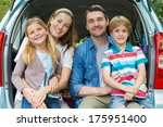 portrait of a happy family of... | Shutterstock . vector #175951400