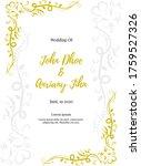 floral ornament wedding card...   Shutterstock .eps vector #1759527326