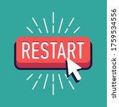 cool vector restart button with ... | Shutterstock .eps vector #1759534556