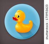 Rubber Duck  Long Shadow Vecto...