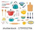 modern various kitchen tools...   Shutterstock .eps vector #1759552706