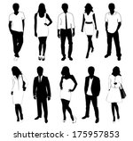 collection of people... | Shutterstock .eps vector #175957853