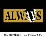 always live your dreams vector... | Shutterstock .eps vector #1759617650